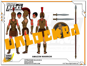 Unlocked 02 Female Amazon Warrior