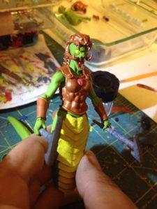 Green Snake Gorgon Paint 03