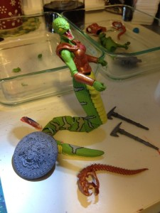 WIP Green Snake Paint 04