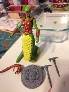 WIP Green Snake Paint 05