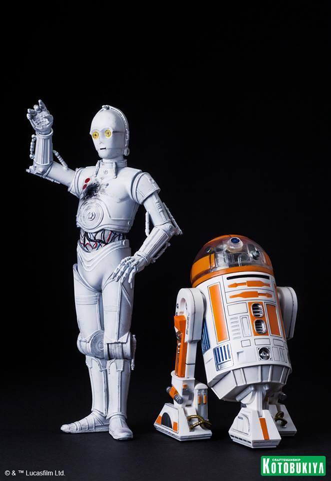 Star Wars R3 A2 Amp K 3po Artfx Statues 2015 Celebration