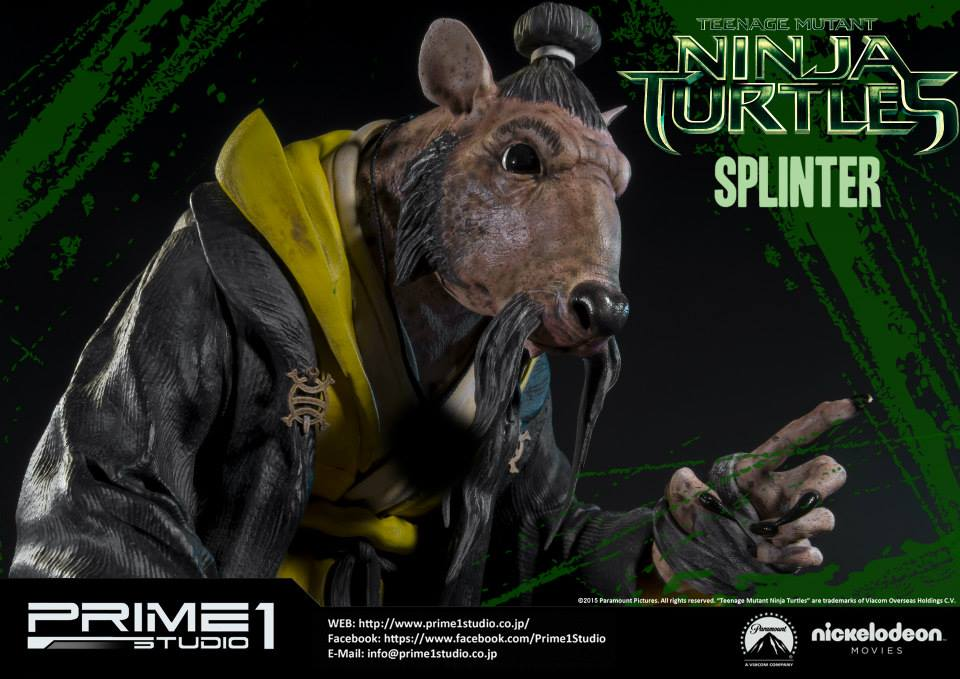 TMNT Movie Splinter Coming from Prime 1 Studio | Needless ...