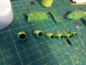 WIP Green Snake Paint 03