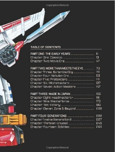 Transformers Legacy 03 Table of Contents