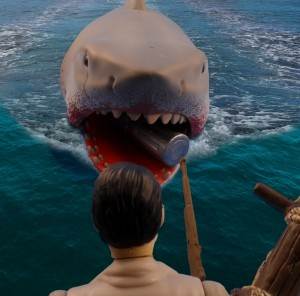 Jaws Reaction Bloody Shark 14